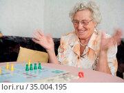 Senior,retirement,winning,enthusiasm. Стоковое фото, фотограф Ramona Heim / easy Fotostock / Фотобанк Лори