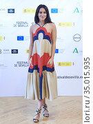 Actress Macarena Garcia attends 'El arte de volver' Photocall during... Редакционное фото, фотограф Manuel Cedron / age Fotostock / Фотобанк Лори