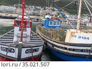 Fishing Boats, Kalkbaai, Kalk Bay Harbour, False Bay, Cape Town, Western... Стоковое фото, фотограф Alberto Carrera Anaya / easy Fotostock / Фотобанк Лори