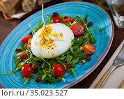 Burrata cheese salad. Стоковое фото, фотограф Яков Филимонов / Фотобанк Лори