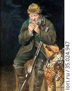 Wallander Alfred - Jägare Med Pipa - Swedish School - 19th Century. Редакционное фото, фотограф Artepics / age Fotostock / Фотобанк Лори
