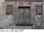 Casa de los Gonzalez de Sepulveda, Sepulveda, Segovia province, Spain. Стоковое фото, фотограф Tolo Balaguer / age Fotostock / Фотобанк Лори