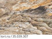 Ravine in a clay land devoid of soil soil at an open pit mining site. Стоковое фото, фотограф Евгений Харитонов / Фотобанк Лори