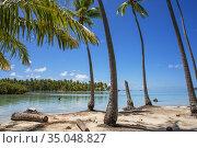 Tropical paradise seascape Taha'a island landscape, French Polynesia... Стоковое фото, фотограф Sergi Reboredo / age Fotostock / Фотобанк Лори