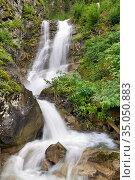Santa Cristina Valgardena. Italy. Tervela Waterfall. Стоковое фото, фотограф Marco Brivio / age Fotostock / Фотобанк Лори