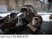 Балашиха, снос чеканки М.К, Аникеева с ГТС. Редакционное фото, фотограф Дмитрий Неумоин / Фотобанк Лори