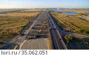 Construction of a new road at the southern entrance to Rostov-on-Don. Russia. Стоковое фото, фотограф Арестов Андрей Павлович / Фотобанк Лори