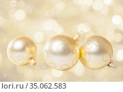 Christmas decorations on bokeh background. Стоковое фото, фотограф Юлия Бабкина / Фотобанк Лори