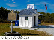 Smallest Post Office in the United States located in Ochopee Florida. Стоковое фото, фотограф Dennis MacDonald / age Fotostock / Фотобанк Лори