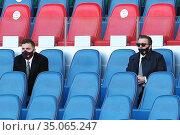 Presidents of AS Roma Dan and Ryan Friedkin ,Rome, ITALY-22-11-2020. Редакционное фото, фотограф Federico Proietti / SYNC / AGF/Federico Proietti / / age Fotostock / Фотобанк Лори