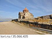 Церковь Святого Карапета. Монастырь Севанаванк, Армения (2016 год). Стоковое фото, фотограф Мартынов Антон / Фотобанк Лори