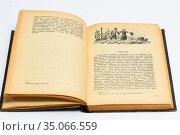 Старая, раскрытая книга на светлом фоне. Стоковое фото, фотограф Игорь Низов / Фотобанк Лори