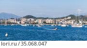 Marina of Ajaccio at sunny day, Corsica (2015 год). Редакционное фото, фотограф EugeneSergeev / Фотобанк Лори