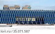 Independence Palace in winter. Nur Sultan. Редакционное фото, фотограф Валерия Попова / Фотобанк Лори