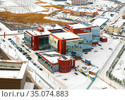 Downtown Business Center. Nur Sultan. Редакционное фото, фотограф Валерия Попова / Фотобанк Лори