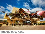 Marques de Riscal Hotel, designed by architect Frank Owen Gehry, ... Стоковое фото, фотограф Javier Larrea / age Fotostock / Фотобанк Лори