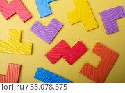Piece of wooden colorful puzzle as problem solving concept. Стоковое фото, фотограф Turgay Koca / easy Fotostock / Фотобанк Лори
