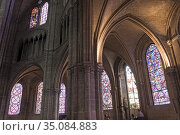 Stained glass windows of the ambulatory around the choir, Saint Stephen... Стоковое фото, фотограф Christian Goupi / age Fotostock / Фотобанк Лори