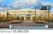 City landscape. Ministry of Foreign Affairs of Kazakhstan. Nur Sultan (2009 год). Редакционное фото, фотограф Валерия Попова / Фотобанк Лори