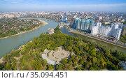 View of the park and the Krasnodar city. Стоковое фото, фотограф Арестов Андрей Павлович / Фотобанк Лори