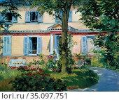 Edouard Manet - Landhaus in Rueil. Редакционное фото, фотограф Artepics / age Fotostock / Фотобанк Лори