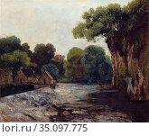 Gustave Courbet - L'ecluse de la Loue. Редакционное фото, фотограф Artepics / age Fotostock / Фотобанк Лори