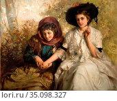 Clark James - the Fortune Teller - British School - 19th Century. Редакционное фото, фотограф Artepics / age Fotostock / Фотобанк Лори