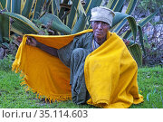 Gheralta mountains, near Hawzen, Eastern Tigray, Ethiopia. Protestant... (2020 год). Редакционное фото, фотограф Sergi Reboredo / age Fotostock / Фотобанк Лори