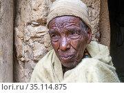 The temple of Yeha in Tigray, museum, Ethiopia. Next to the ruins... (2020 год). Редакционное фото, фотограф Sergi Reboredo / age Fotostock / Фотобанк Лори