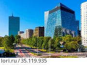Warsaw, Mazovia / Poland - 2020/05/10: Panoramic view of Gdanski ... Редакционное фото, фотограф bialorucki bernard / age Fotostock / Фотобанк Лори