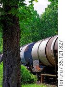 Eisenbahnwaggons. Стоковое фото, фотограф Bernd J. W. Fiedler / age Fotostock / Фотобанк Лори