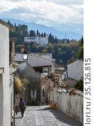 Roofs of Granada. (2018 год). Редакционное фото, фотограф Сергей Дрозд / Фотобанк Лори