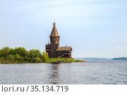 Wooden Assumption Church in Kondopoga (2014 год). Стоковое фото, фотограф Юлия Бабкина / Фотобанк Лори