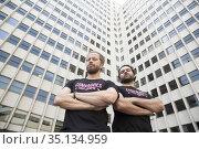 Alfonso Sanchez and Alberto Lopez poses for a photo session on April... (2017 год). Редакционное фото, фотограф Nacho López / age Fotostock / Фотобанк Лори