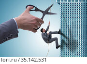 Businessman in business risk concept. Стоковое фото, фотограф Elnur / Фотобанк Лори