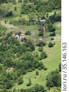 Agricultural household is on slopes of mountains in the Durmidor massif. Northwestern Montenegro. (2016 год). Стоковое фото, фотограф Кекяляйнен Андрей / Фотобанк Лори