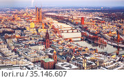 Frankfurt at winter (2013 год). Стоковое фото, фотограф Sergey Borisov / Фотобанк Лори