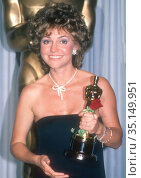 Sally Field 1985.Photo By John BarrettPHOTOlink.net.. Редакционное фото, фотограф Adam Scull / age Fotostock / Фотобанк Лори