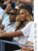 BEYONCE, JAY Z.at Men's Final at US Open Tennis in Queens 9-12-2011... Редакционное фото, фотограф Adam Scull / age Fotostock / Фотобанк Лори