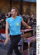 #Chris Martin of Coldplay on.NBC 'Today Show'10-2011.Photo By John... Редакционное фото, фотограф Adam Scull / age Fotostock / Фотобанк Лори