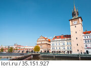 Old Prague view at sunny summer day (2017 год). Редакционное фото, фотограф EugeneSergeev / Фотобанк Лори