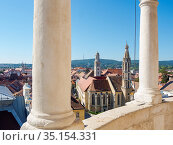 View from Firewatch Tower over the town. Sopron in Transdanubia in... Стоковое фото, фотограф Martin Zwick / age Fotostock / Фотобанк Лори