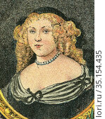 Old color lithography portrait of Madame de Sévigné. Marie de Rabutin... Стоковое фото, фотограф Jerónimo Alba / age Fotostock / Фотобанк Лори