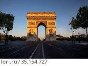 The Ark of Triumph, Paris, France. Стоковое фото, фотограф Philippe Lissac / Godong / age Fotostock / Фотобанк Лори