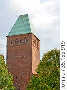 Башня Бранденбургского музея. Берлин, Германия (2017 год). Редакционное фото, фотограф Ирина Борсученко / Фотобанк Лори