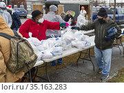 Detroit, Michigan USA - 19 December 2020 - In the week before Christmas... Редакционное фото, фотограф Jim West / age Fotostock / Фотобанк Лори