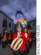 Colinegros, black tailed jews holy week procession, BAENA, CORDOBA... (2008 год). Редакционное фото, фотограф Candy Lopesino / age Fotostock / Фотобанк Лори