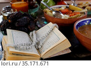 Traditional meal for iftar in time of Ramadan after the fast has ... Стоковое фото, фотограф Fred de Noyelle / Godong / age Fotostock / Фотобанк Лори