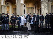 Domenico Arcuri and President of Lazio region Nicola Zingaretti during... Редакционное фото, фотограф Alessandro Serrano' / AGF/Alessandro Serrano' / / age Fotostock / Фотобанк Лори