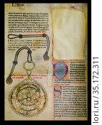 Books of the Wisdom of Astronomy by Alfonso X of Castile. Universidad... Стоковое фото, фотограф Juan García Aunión / age Fotostock / Фотобанк Лори